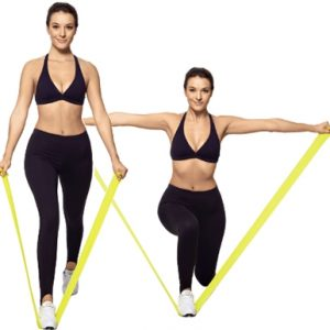 faixa elástica exercicios